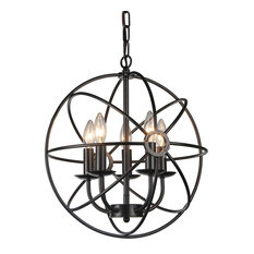 Stained glass chandeliers houzz warehouse of tiffany inc warehouse of tiffany meila 5 light black 16 spherical aloadofball Gallery