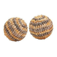 Dimond Home 163-020/S2 Brown Shell Balls - Set of 2