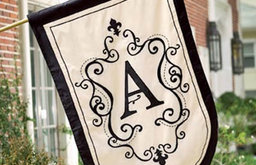 Monogram Garden Flags