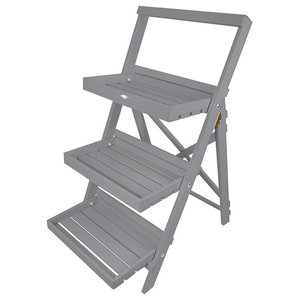 19562d3ab874 Step Ladder Plant Stand, Gray. Step Ladder Plant Stand, Gray$129. Malibu Outdoor  3-Layer Wood ...