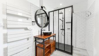 Rénovation salle de bain style industriel