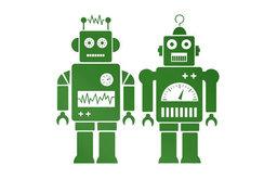 Robots Sticker, Green