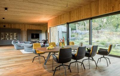 Mit der Natur im Einklang: Ein Heim aus dreierlei Holz