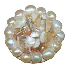 """Shell and Pearl Drawer Knob, 1.75"""""""