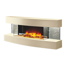 The Miami Curve Fireplace, Marfil