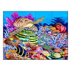 Tile Mural, Magic Carpet Ride, 60.8x45.6 cm