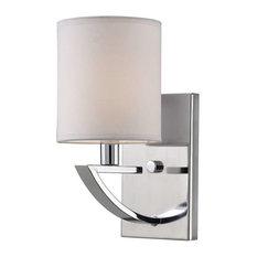 Bathroom Vanity Lights With Fabric Shades bathroom vanity lights with a fabric shade | houzz