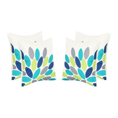"GDF Studio Grace Outdoor Leaf Pattern 17.75"" Square Cushion, Set of 4"