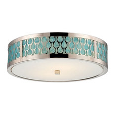 Nuvo Lighting   Raindrop 2 Light Flush Mount, Polished Nickel   Flush Mount