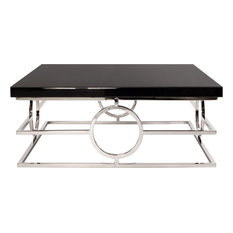 Howard Elliott Collection - Stainless Steel Coffee Table, Natural - Coffee Tables