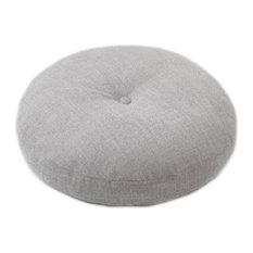 Circle Tatami Floor Detachable Cushion, Japanese Pillow 40 Cm, Green, Gray