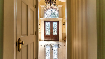 Double Entry Door System, Fiberglass with Wrought Iron ,Royal Entry Door Systems