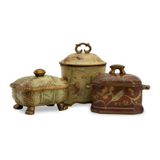 Imax Worldwide Home Crandle Boxes 3 Piece Set Bathroom Canisters