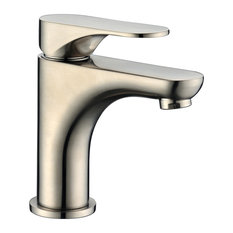 Dawn Single-Lever Faucet, Brushed Nickel, Pull-Up Drain With Lift Rod