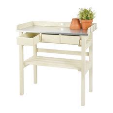 Esschert Design Garden Work Bench, White