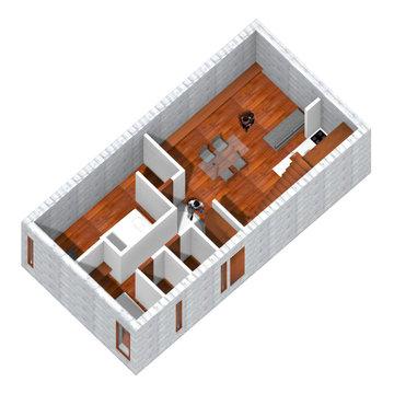 メゾネット型 2bedタイプ 下階