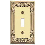 victorian switch plate single toggle pvd solid brass