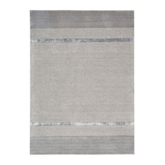 "Calvin Klein Home Ck205 Vale Tacoma Solid Color Rug, Zinc, 5'3""x7'5"""