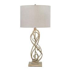 Ashley Furniture Edric Metal Table Lamp in Antique Gold