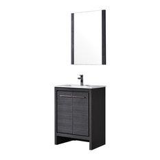 Milan 24-inch Silver Grey Mirror