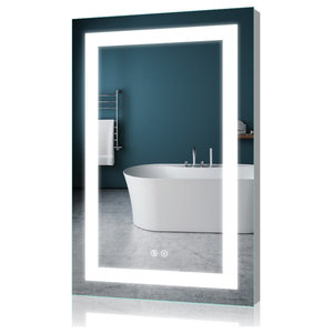 "LED Backlit Mirror Illuminated Bathroom Mirror With Sensor Touch, 24""x36""-2 Butt"