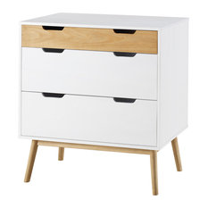 3-Drawer Dresser, White