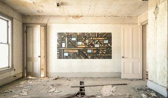 Large wood mosaic art