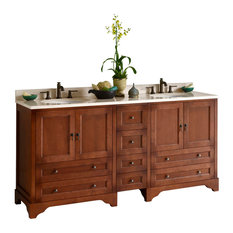 "Ronbow Milano 73"" Double Bathroom Vanity Set With Ceramic Sink"