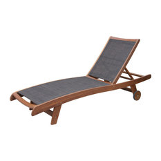 Byron Sling and Eucalyptus Chaise Lounge Chairs, Set of 2