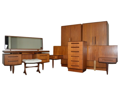 . Mid Century Teak Bedroom Set by G Plan