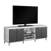 "Tv Stand, 60""L, White, Gray"