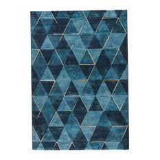 Jaipur Living Miso Geometric Dark Blue/Indigo Area Rug, 2'x3'