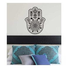 Mandala Stencil Hamsa Hand, Reusable For Walls, Small