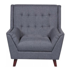 Asha Arm Chair, Dark Gray by us pride furniture corp