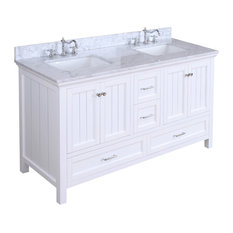 "Paige Bath Vanity, Base: White, 60"", Double Sink"