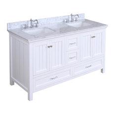 "Paige Bath Vanity, Base: White, 60"", Double Sink"