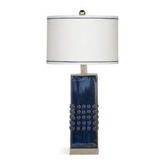 Bassett Mirror Andrews Table Lamp in Blue Finish