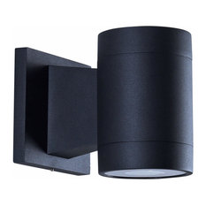 "6"" Modern 10-Watt Integrated LED Outdoor Wall Sconce, Matte Black"