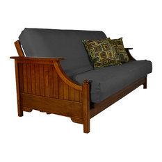 The Futon Queen Cover Organic Cotton Charcoal