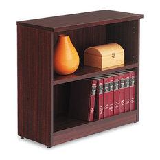 Alera Valencia Series Bookcase 2-Shelf 31 3/4-inchx14-inchx29 1/2-inch Mahogany