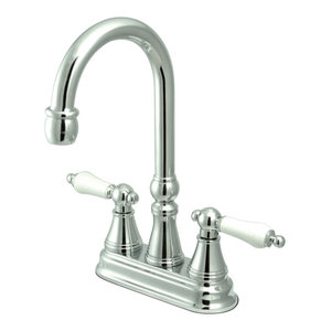 Polished Chrome 4-3//4 4-3//4 Kingston Brass KB1491PX Bar Faucet without Pop-Up Rod