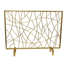 Gold Twig Fire Screen