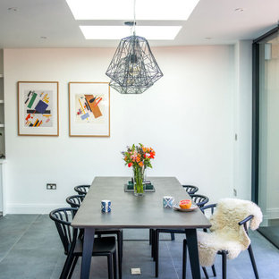 Design ideas for a contemporary dining room in London.