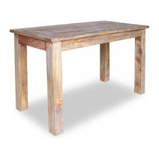 VidaXL Solid Reclaimed Wood Dining Table 47.2-inch Rustic Dining Room Furniture