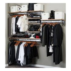 Arrange a Space - Closet System in Maple Finish, 80 in. W x 11.75 in. D x 84 in. H, 93 lbs. - Closet Organizers