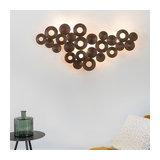 Art Deco Wall Lamp 138cmx64cm Copper - Circles