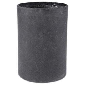 Modular Cylinder Planter, Black, 15x15x36, Without Drainage Hole