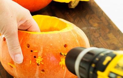 Gör det själv: Enkla, snabba pumpadekorationer till Halloween