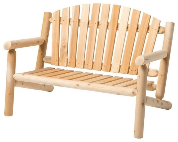 Rustic Garden Benches by Homesquare