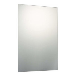 Frameless Wall Hanging Mirror with Wall Fixings, Contemporary Design, 90x60 cm